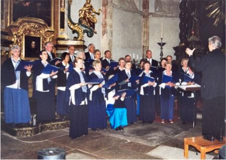 Koncert i 2002 i Teyn kirke i Prag, hvor Tycho Brahe er begravet