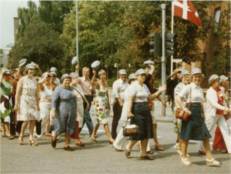 Indmarch i Vejle 1977